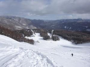 1472スキー場の登り