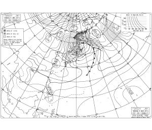明日9時の予想天気図